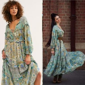 New spell x free people turquoise amethyst gown M